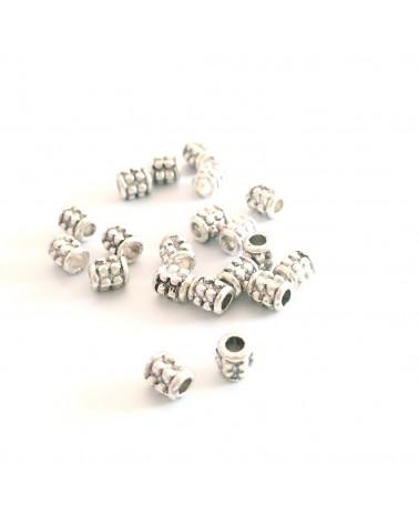 X10  perles métal tonneaux 4x3mm