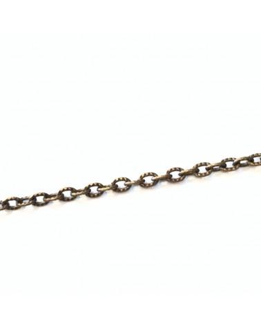 Chaine mailles Forçats gravées 3x2.5mm