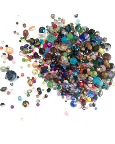 + ou - 700 Perles en verre facettes