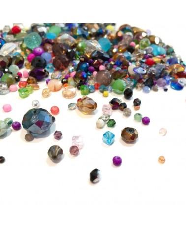 + ou - 350 Perles en verre facettes
