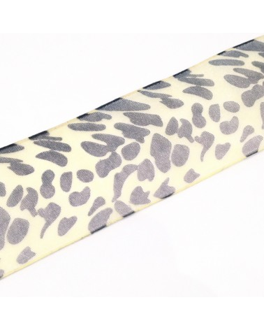 ruban organza léopard 40mm