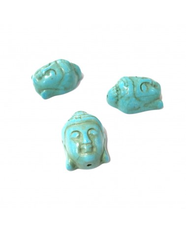 X1Bouddha turquoise synth 30x20mm