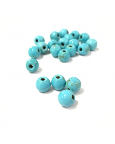 X5 Turquoises Synth. Unies 4, 6 ou 8mm