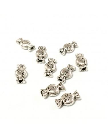 Perles métal bonbon 11x6mm