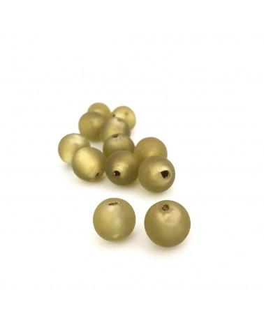 X1 Perle Feuille d'argent 10mm