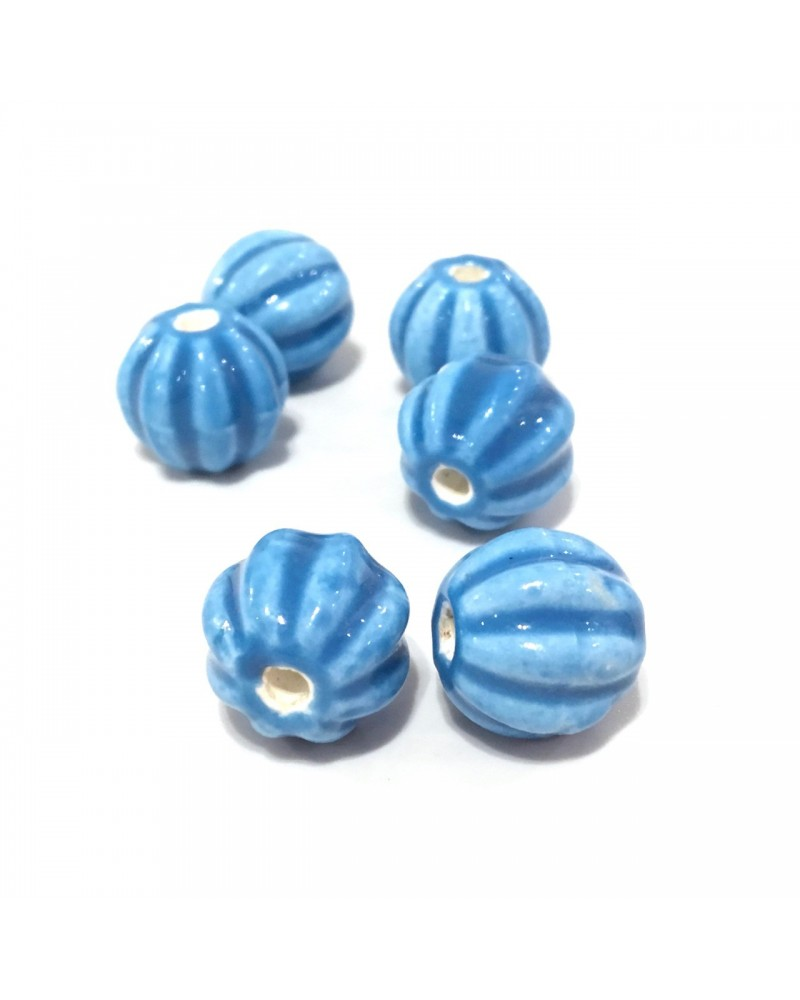 X2 Perles céramique melons 12mm