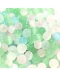 "X10 Perles verre ""oeil de chat"" 4mm"