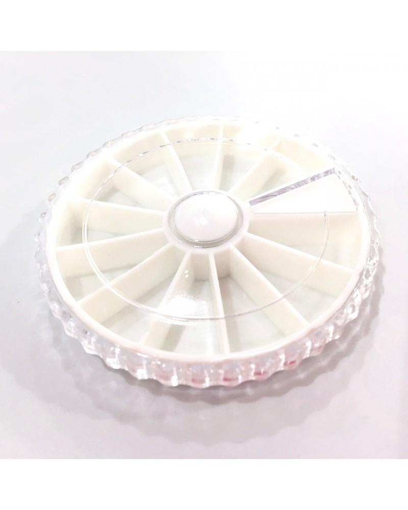 X 1 boite carrousel 12 compartiments 65 mm