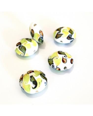 X2 perles verre fait main 19mm