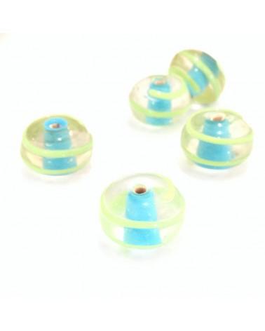 X2 perles verre fait main 15mm