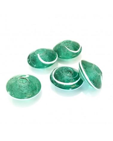 X2 perles verre fait main 20mm