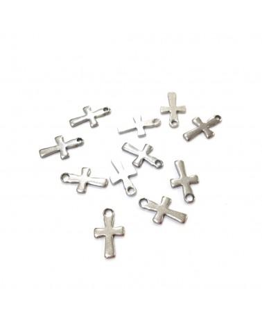 X5 Croix ACIER INOX 12x7mm