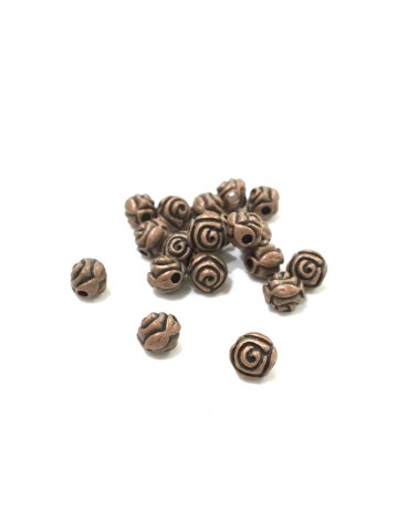 X50 perles rose 6mm