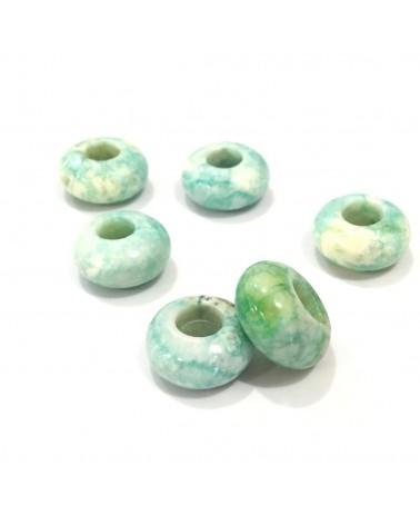 X1 Rondelle pierre Jade Blanc 14mm