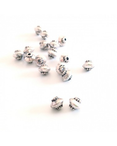 X50 perles toupies 4mm
