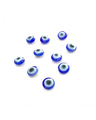 X2 perles verre mauvais oeil 6mm