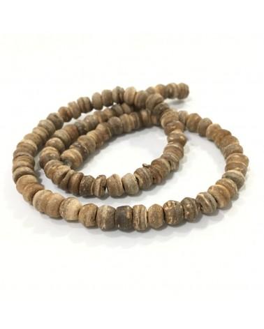 x10  perles rondelles coco 5mm