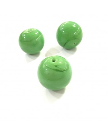 X2 Perles verre 15mm