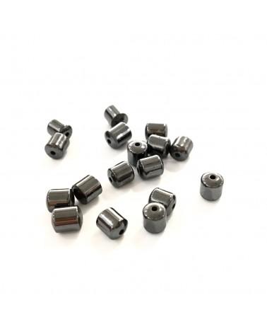 X20 Hématites tonneau 4mm