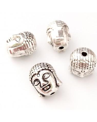 perle métal tête bouddha