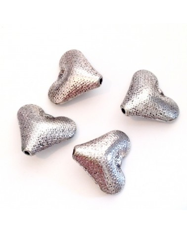 perle métal coeur 19x20mm