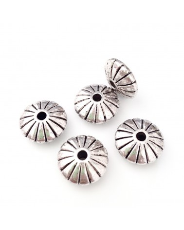 x20 Perle métal soucoupe 15mm