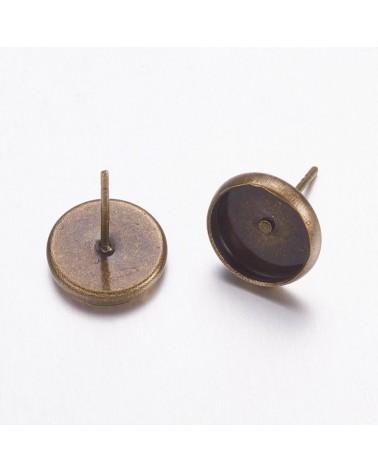 x4 puces d'oreilles pour cabochon 10mm