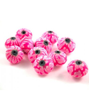 x30 perles Fimo abacus 13x11mm