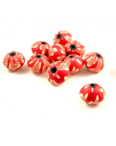 x10 perles Fimo abacus 13x11mm