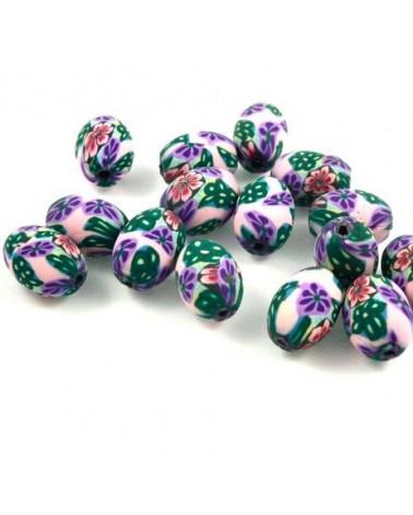 x30 perles Fimo  14x10mm