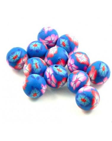 x10 perles Fimo 10mm