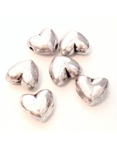 perle métal coeur 9x9mm