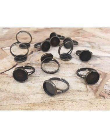 x5 bague support cabochon 12mm