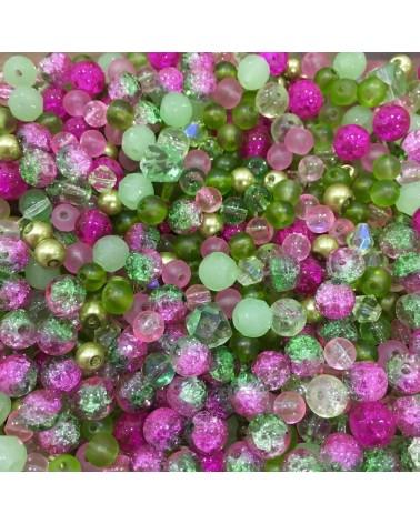 x250 MIX perles verre 6 à 8mm