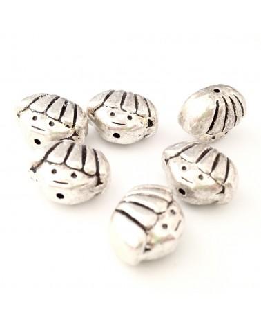 perle métal tête 9x12mm