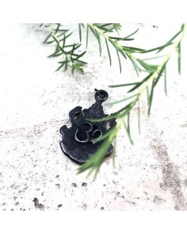 x1 Amulette Ganesh 37x20mm