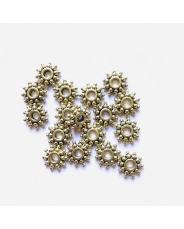 X50 Rondelles fleurs 10mm