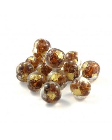 Perle verre diforme 10mm