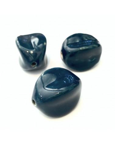 X1 Perle Ceramique karambole 25x15mm