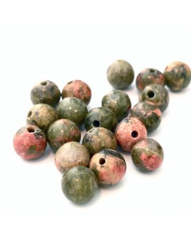 Perle pierre Unakite 6mm