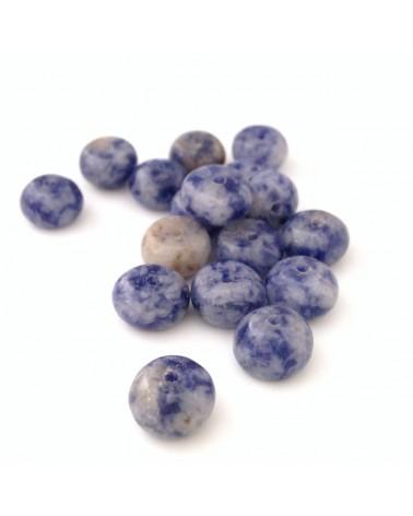 Perle pierre Bleue 6x4mm